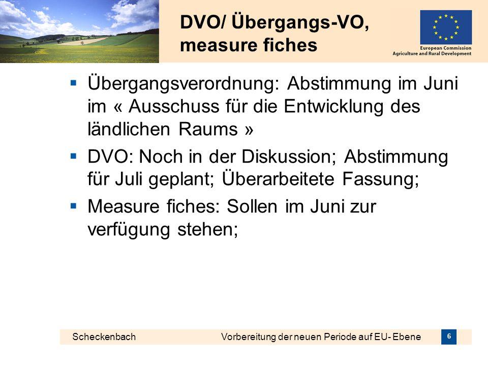 DVO/ Übergangs-VO, measure fiches
