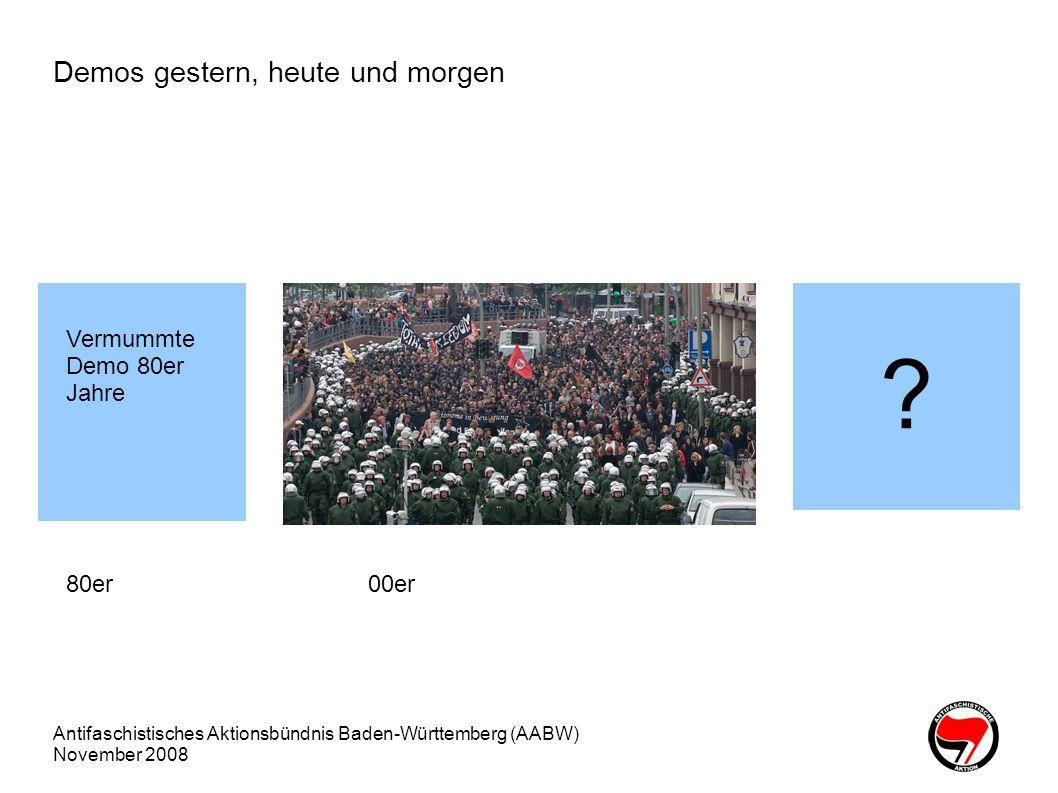 Demos gestern, heute und morgen