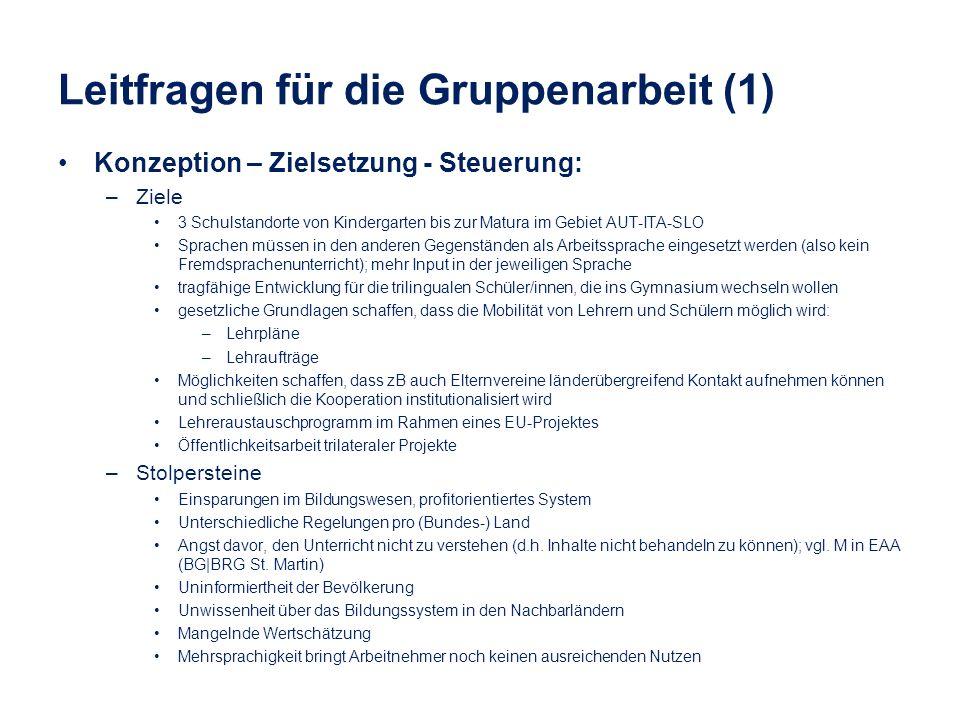 Leitfragen für die Gruppenarbeit (1)