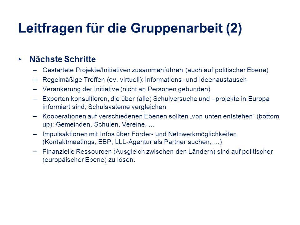 Leitfragen für die Gruppenarbeit (2)