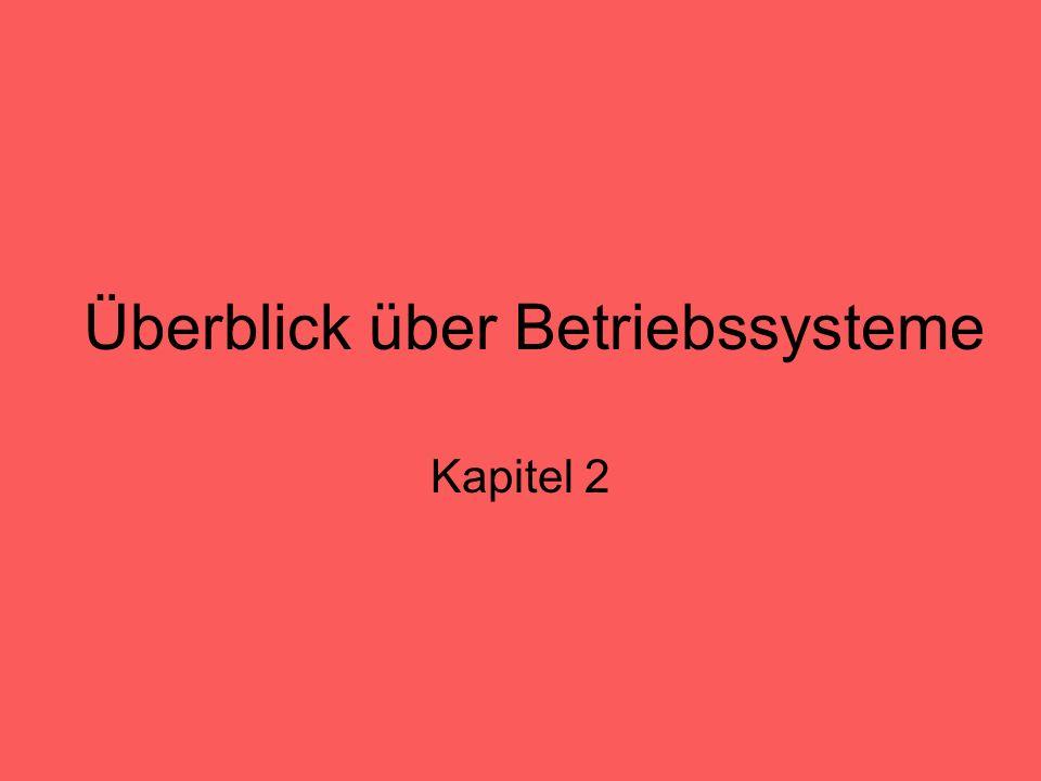 Überblick über Betriebssysteme