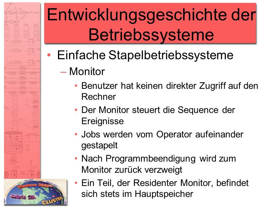 Entwicklungsgeschichte der Betriebssysteme