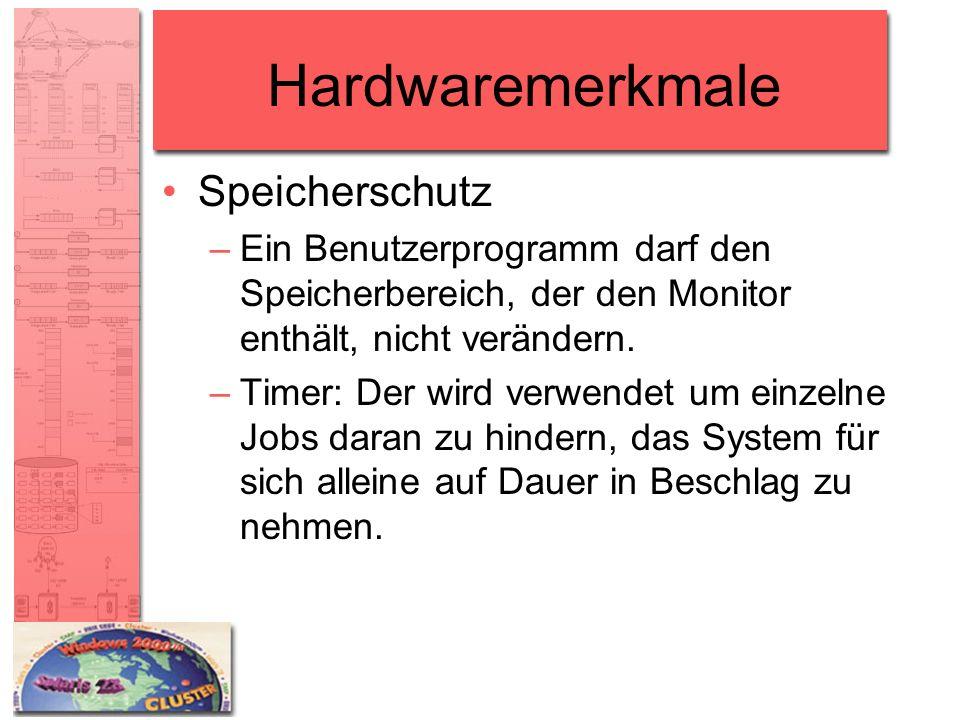 Hardwaremerkmale Speicherschutz