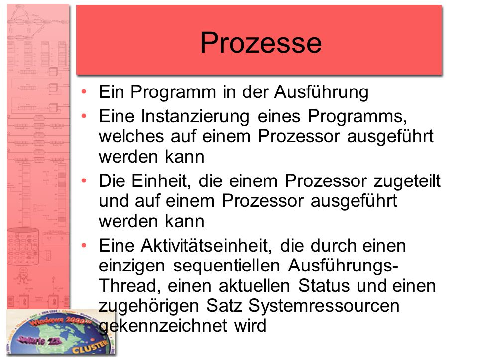 Prozesse Ein Programm in der Ausführung