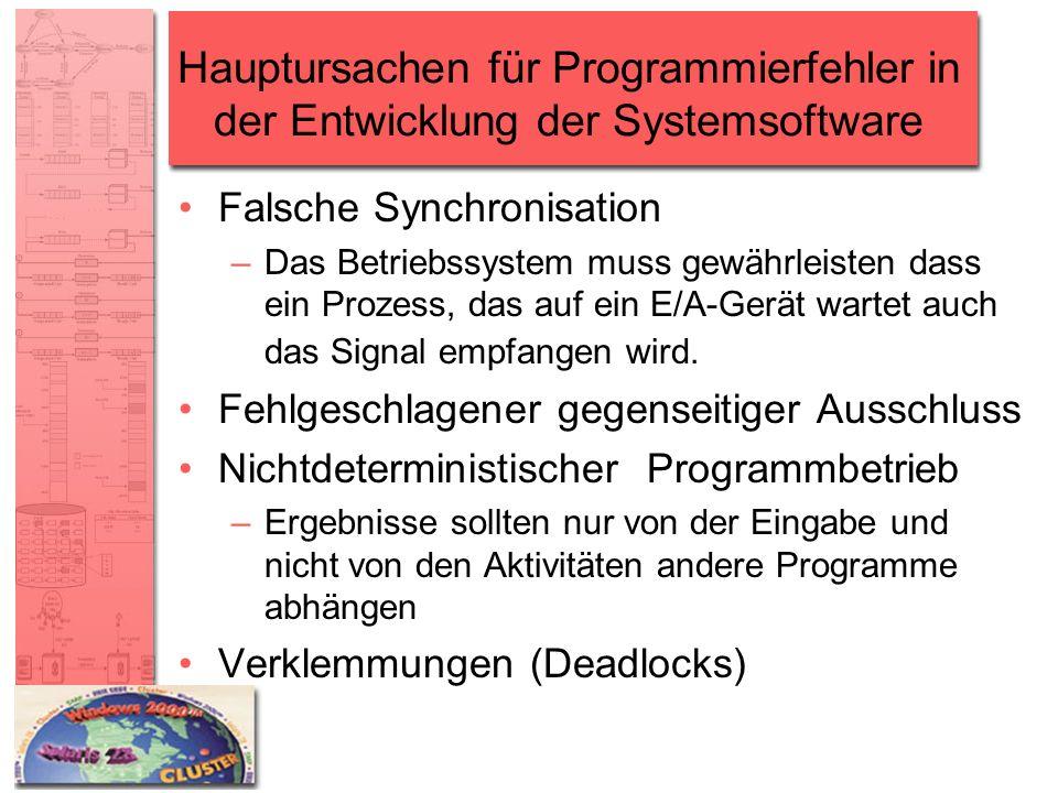 Hauptursachen für Programmierfehler in der Entwicklung der Systemsoftware
