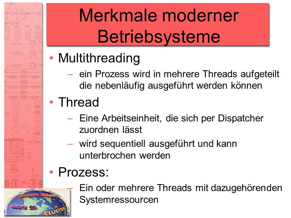 Merkmale moderner Betriebsysteme