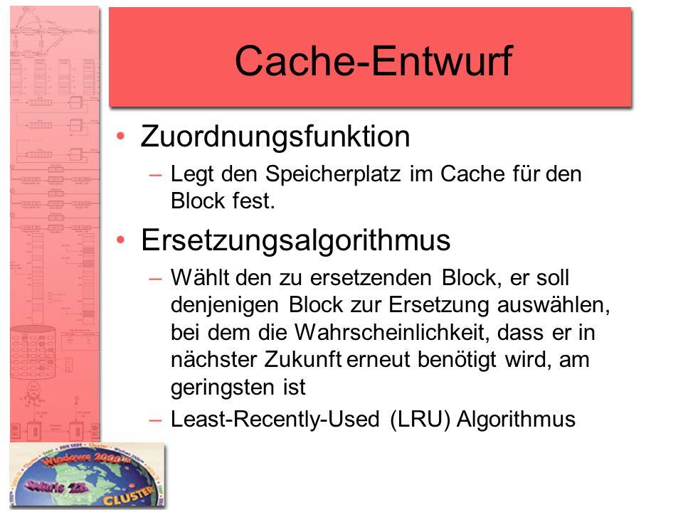 Cache-Entwurf Zuordnungsfunktion Ersetzungsalgorithmus