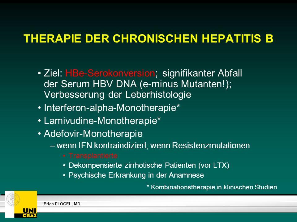 THERAPIE DER CHRONISCHEN HEPATITIS B