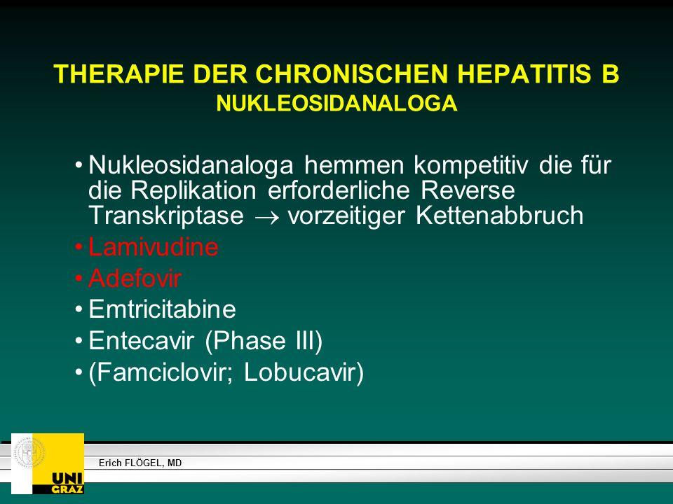 THERAPIE DER CHRONISCHEN HEPATITIS B NUKLEOSIDANALOGA