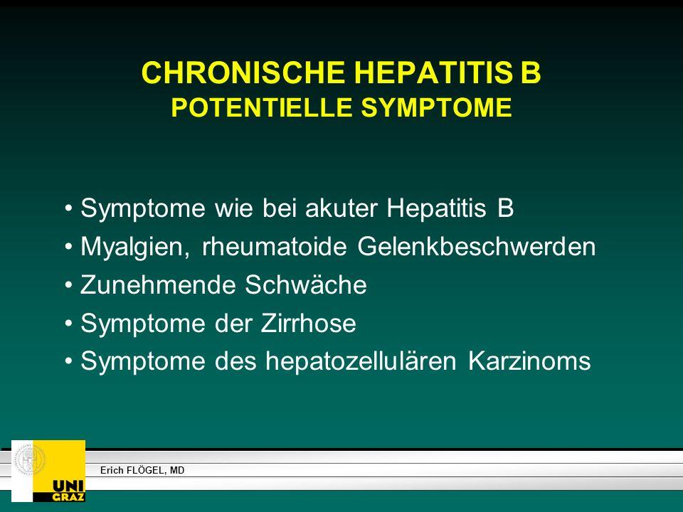 CHRONISCHE HEPATITIS B POTENTIELLE SYMPTOME
