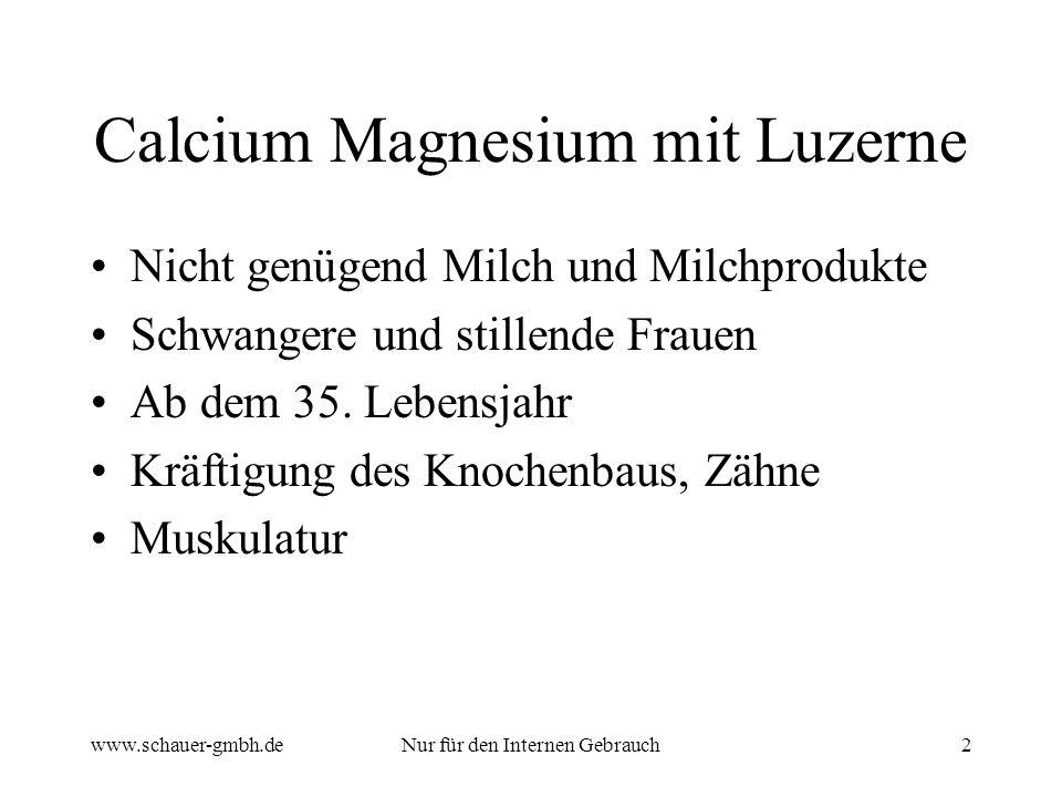 Calcium Magnesium mit Luzerne