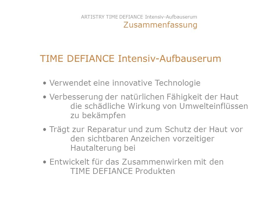 TIME DEFIANCE Intensiv-Aufbauserum
