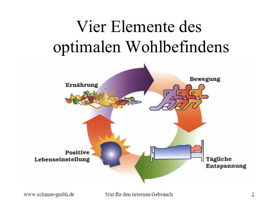 Vier Elemente des optimalen Wohlbefindens