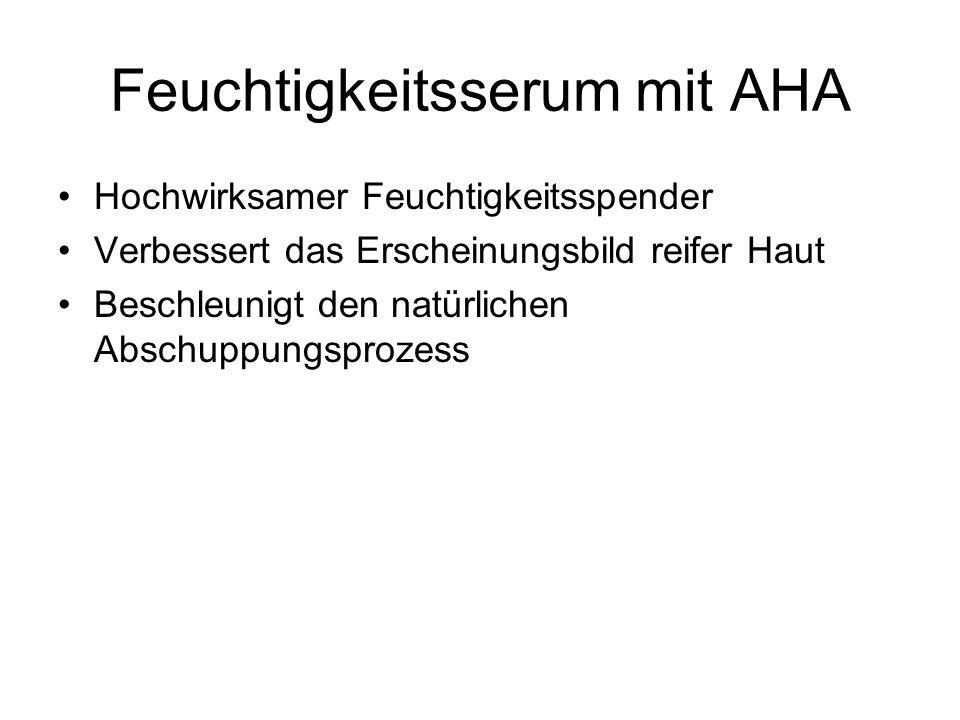 Feuchtigkeitsserum mit AHA