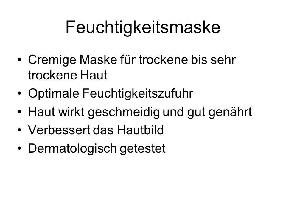 Feuchtigkeitsmaske Cremige Maske für trockene bis sehr trockene Haut