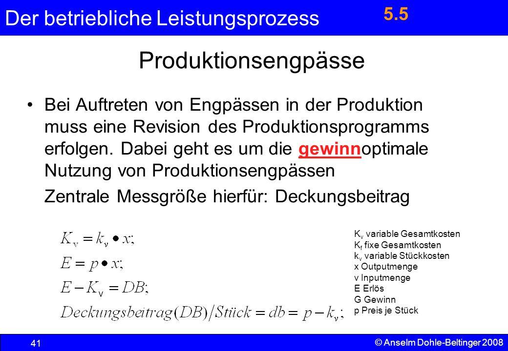 5.5 Produktionsengpässe.