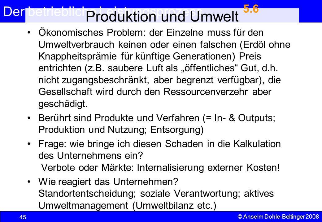 5.6 Produktion und Umwelt.