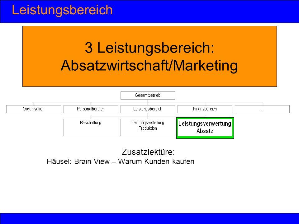 3 Leistungsbereich: Absatzwirtschaft/Marketing