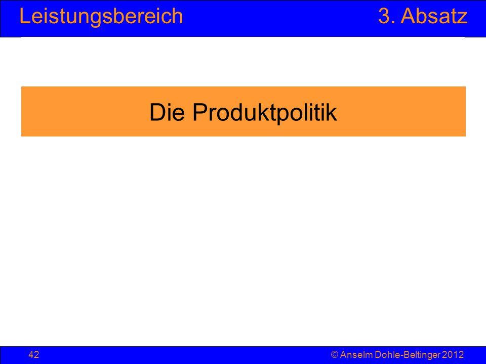 Die Produktpolitik © Anselm Dohle-Beltinger 2012