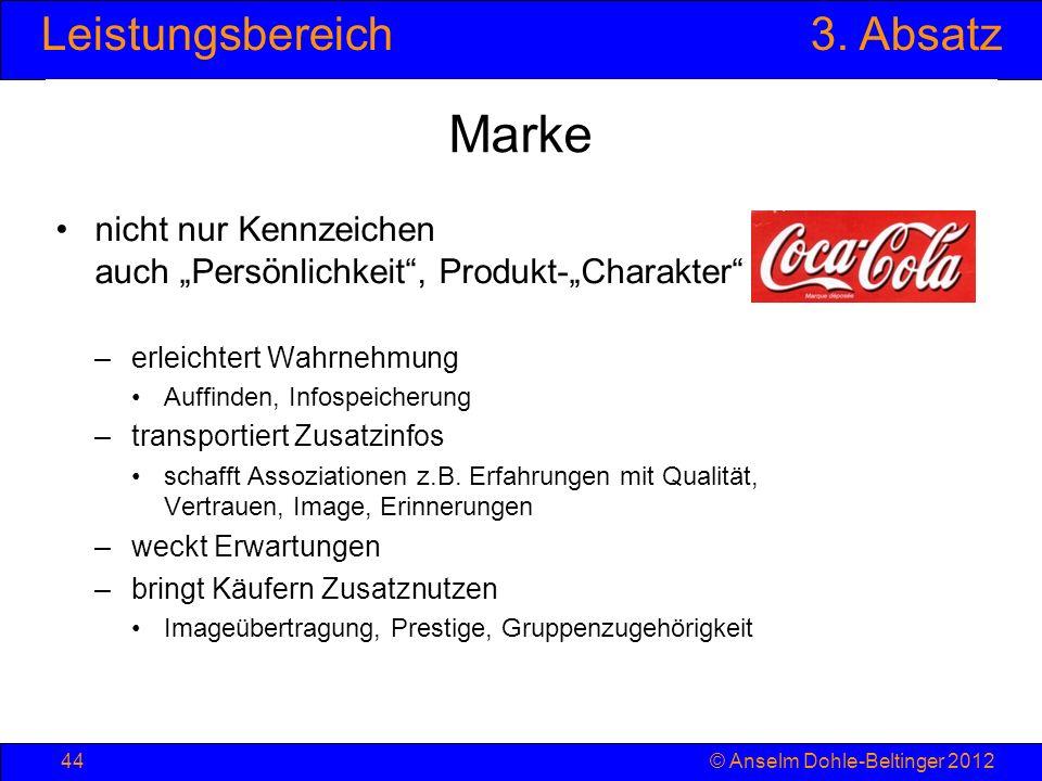 """Marke nicht nur Kennzeichen auch """"Persönlichkeit , Produkt-""""Charakter"""