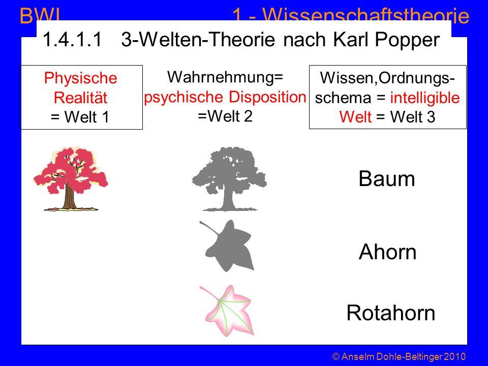 1.4.1.1 3-Welten-Theorie nach Karl Popper