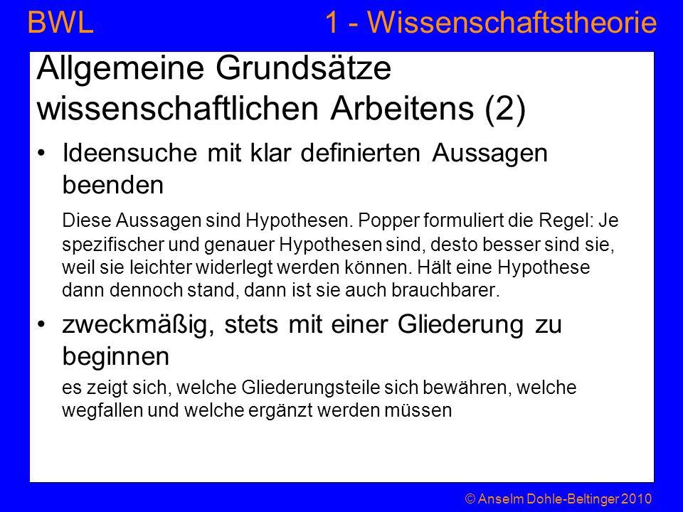 Allgemeine Grundsätze wissenschaftlichen Arbeitens (2)