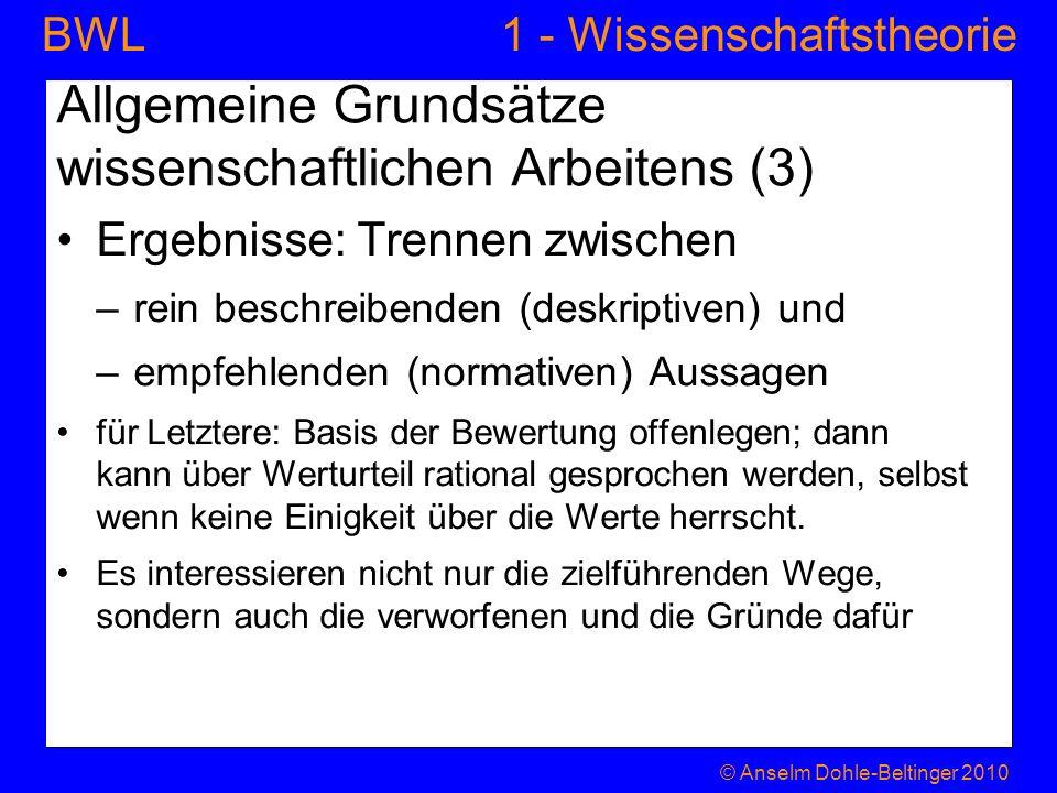 Allgemeine Grundsätze wissenschaftlichen Arbeitens (3)