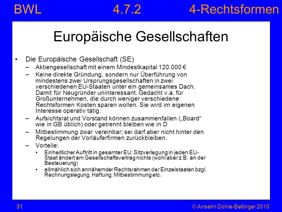 Europäische Gesellschaften