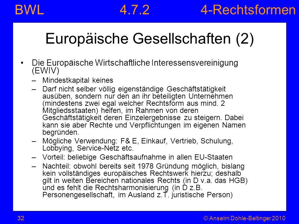 Europäische Gesellschaften (2)