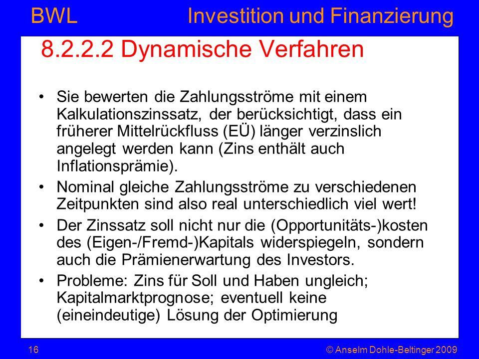 8.2.2.2 Dynamische Verfahren