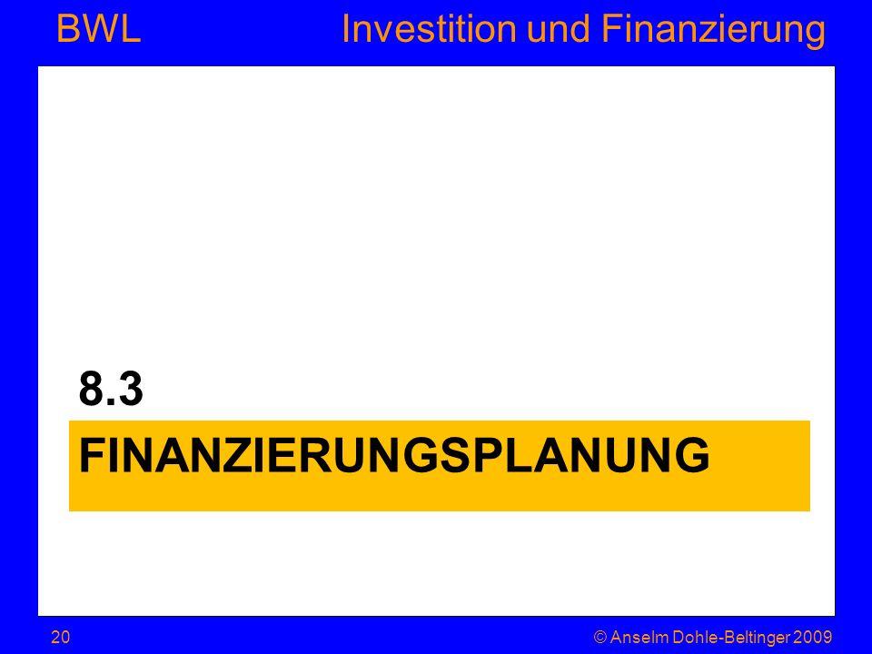 Finanzierungsplanung