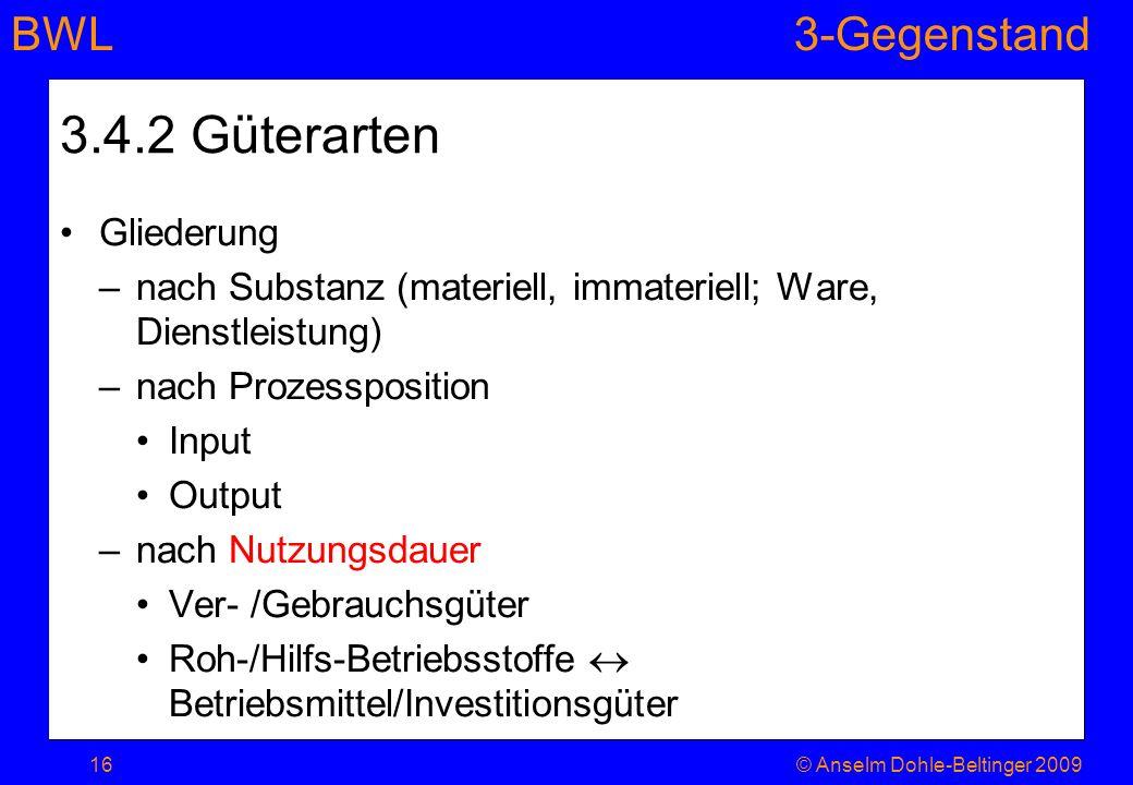 3.4.2 Güterarten Gliederung