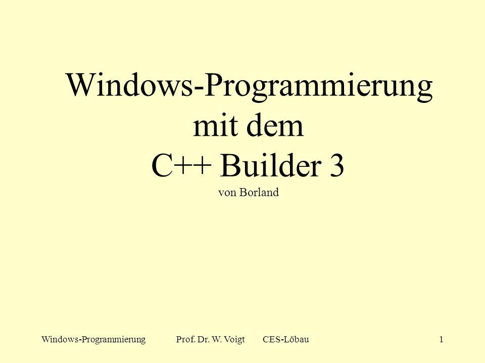 Windows-Programmierung mit dem C++ Builder 3 von Borland