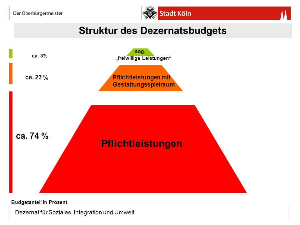 Struktur des Dezernatsbudgets