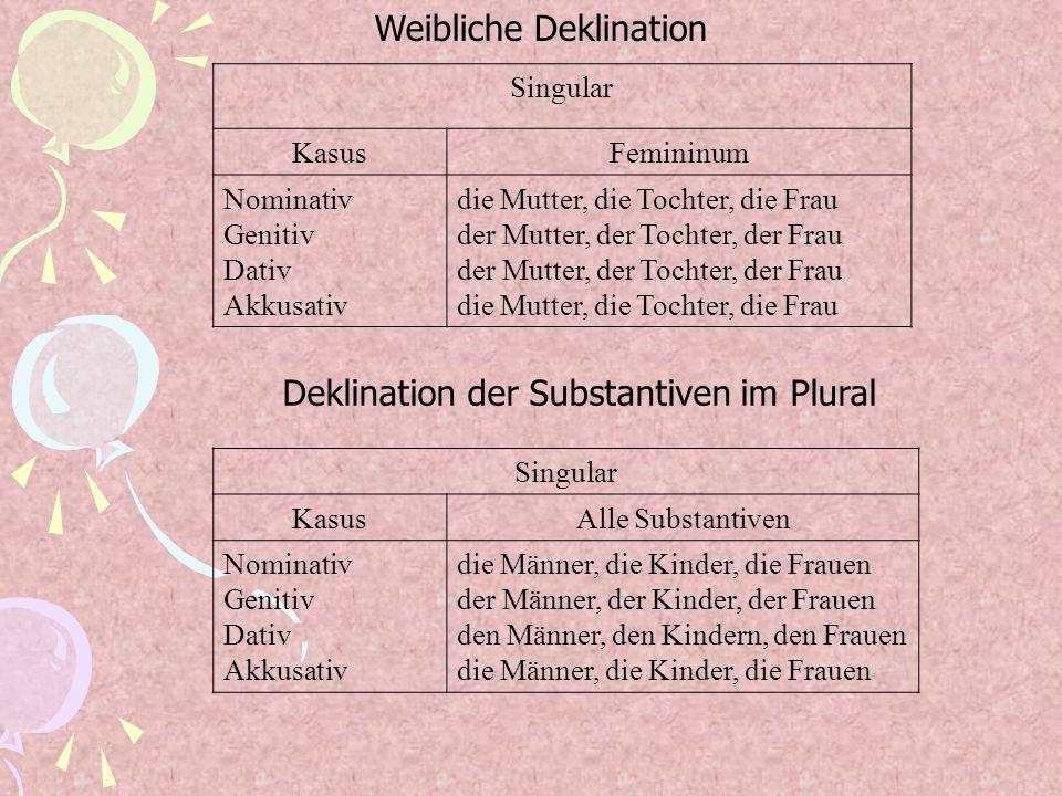 Weibliche Deklination