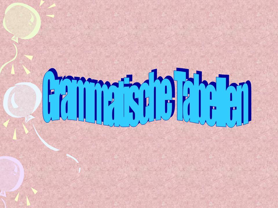 Grammatische Tabellen