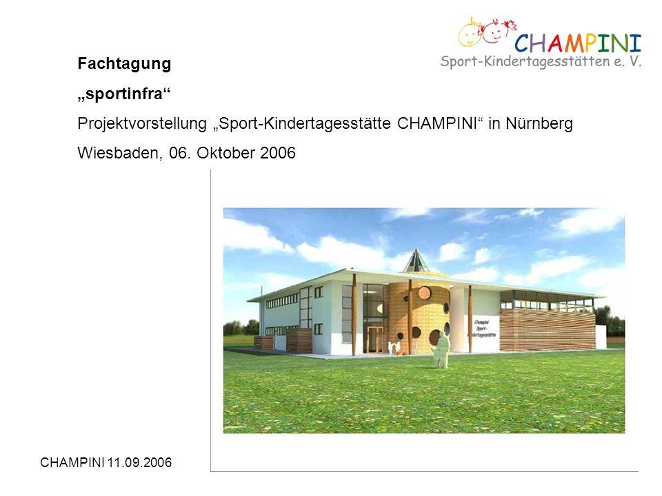 "Projektvorstellung ""Sport-Kindertagesstätte CHAMPINI in Nürnberg"
