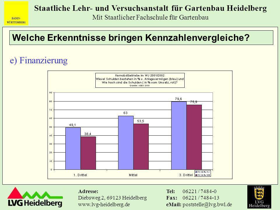 Welche Erkenntnisse bringen Kennzahlenvergleiche e) Finanzierung