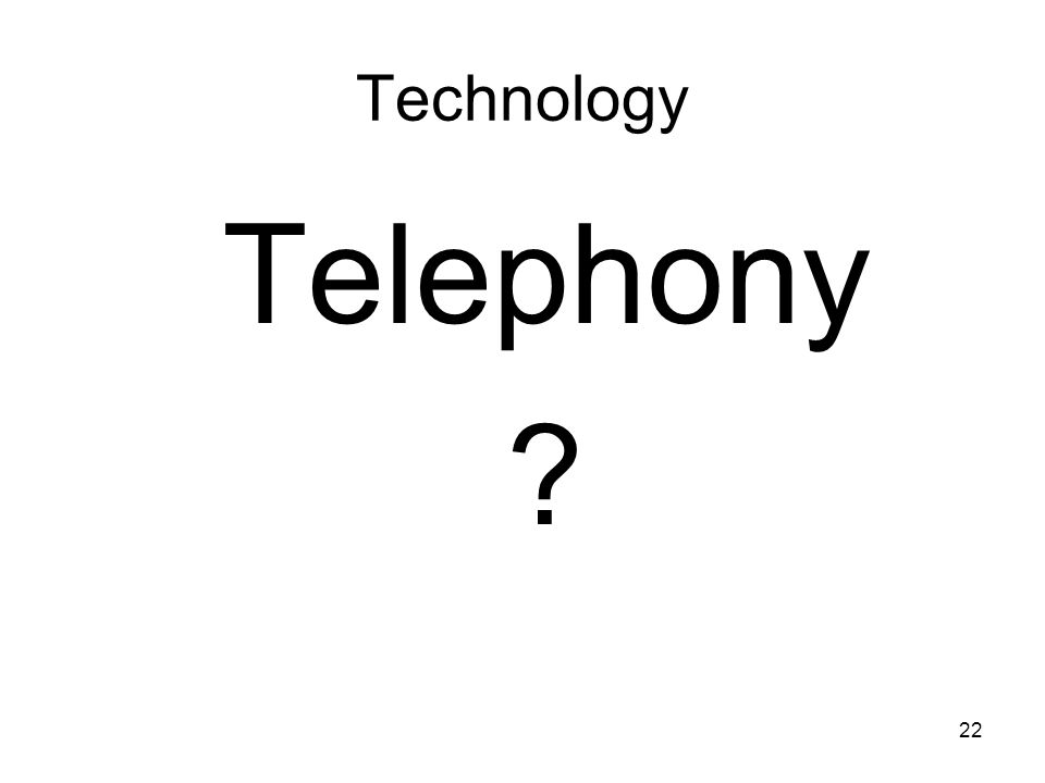 Technology Telephony