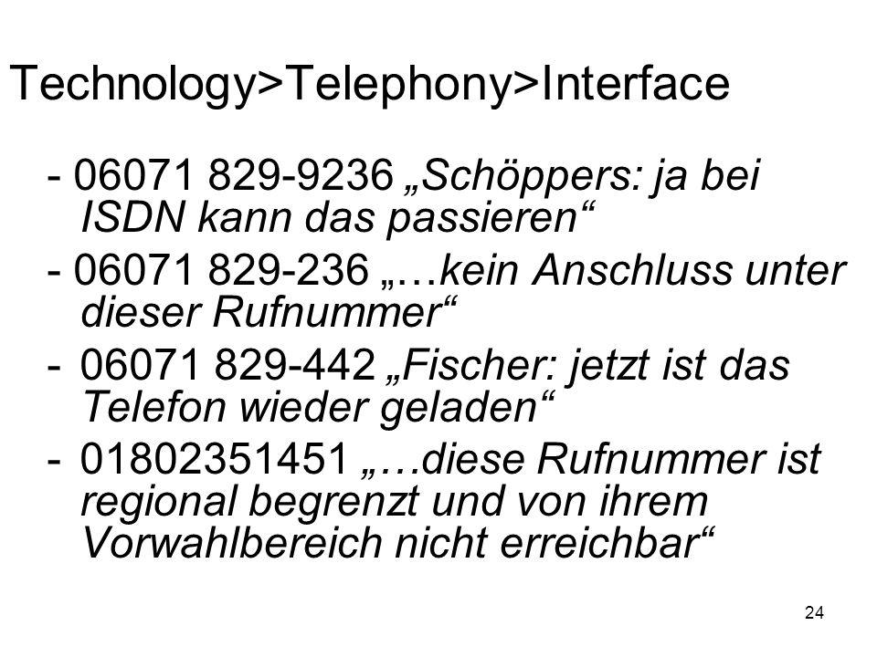 Technology>Telephony>Interface