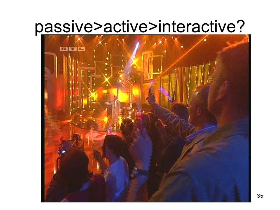 passive>active>interactive