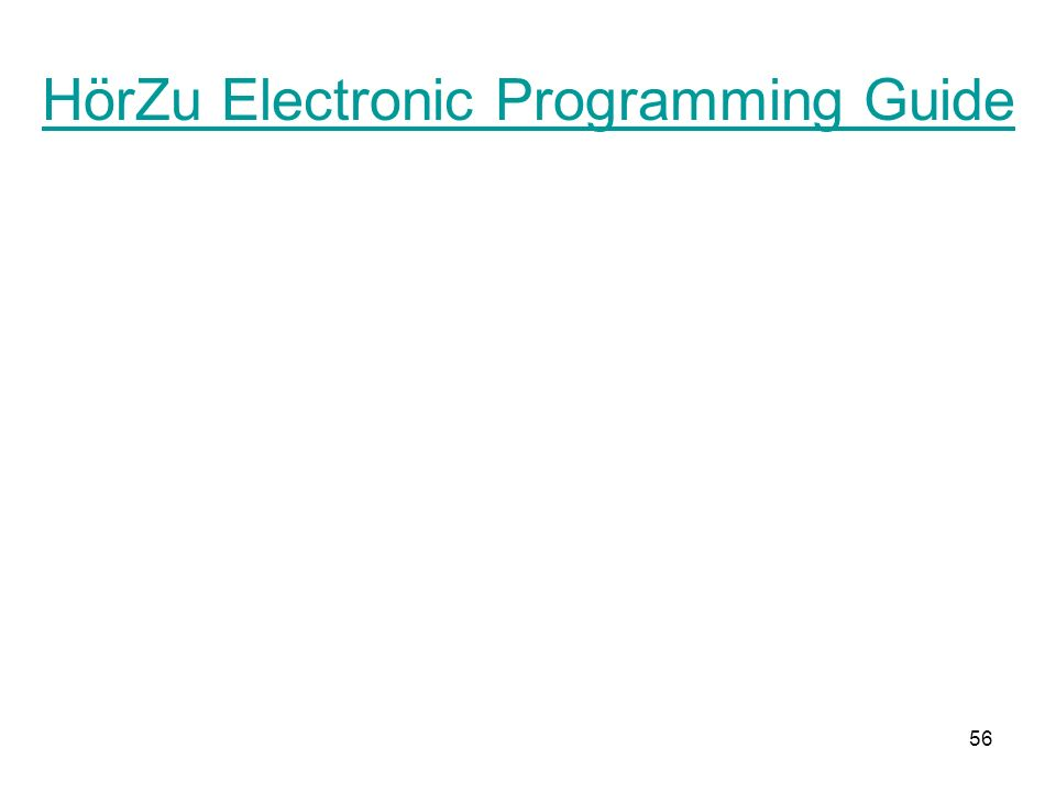 HörZu Electronic Programming Guide