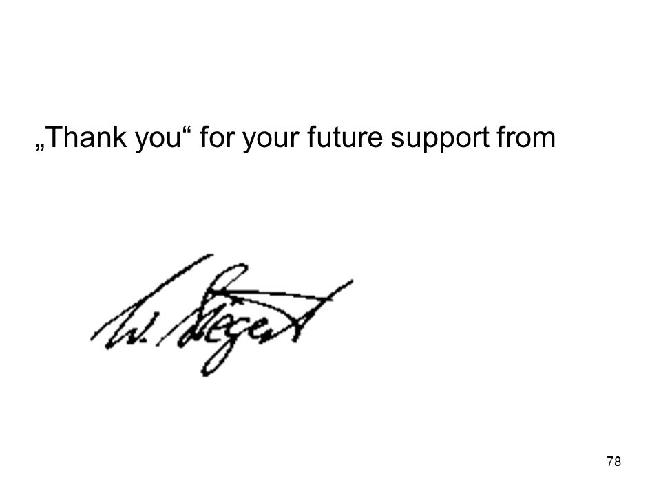 """Thank you for your future support from"