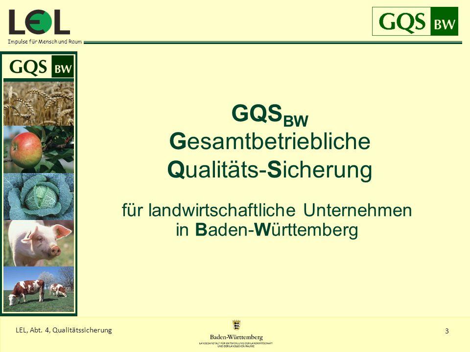GQSBW Gesamtbetriebliche Qualitäts-Sicherung
