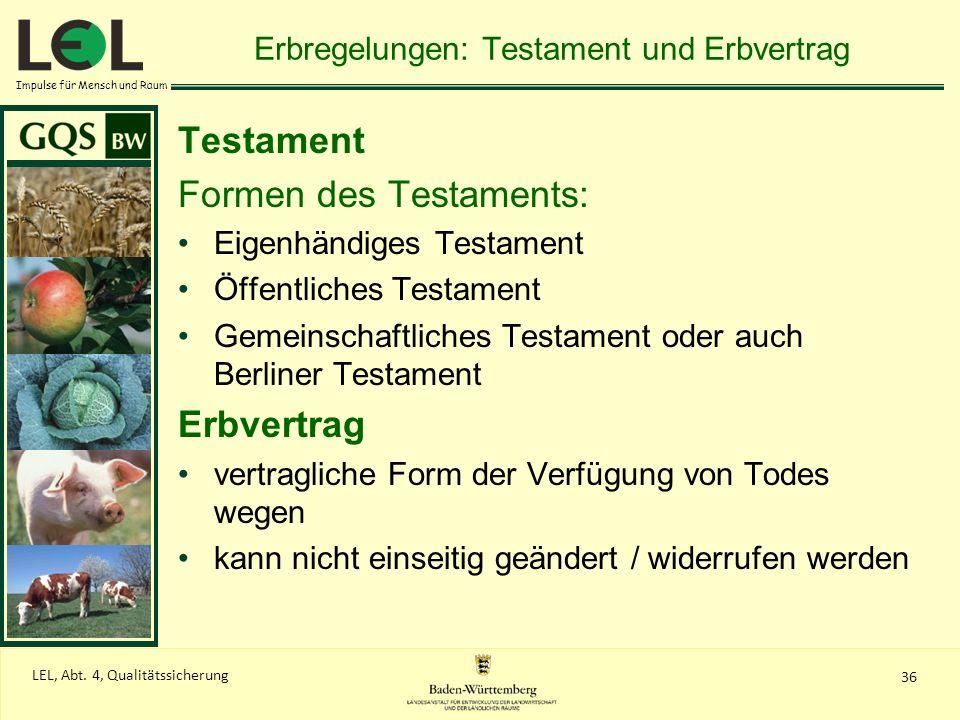Erbregelungen: Testament und Erbvertrag