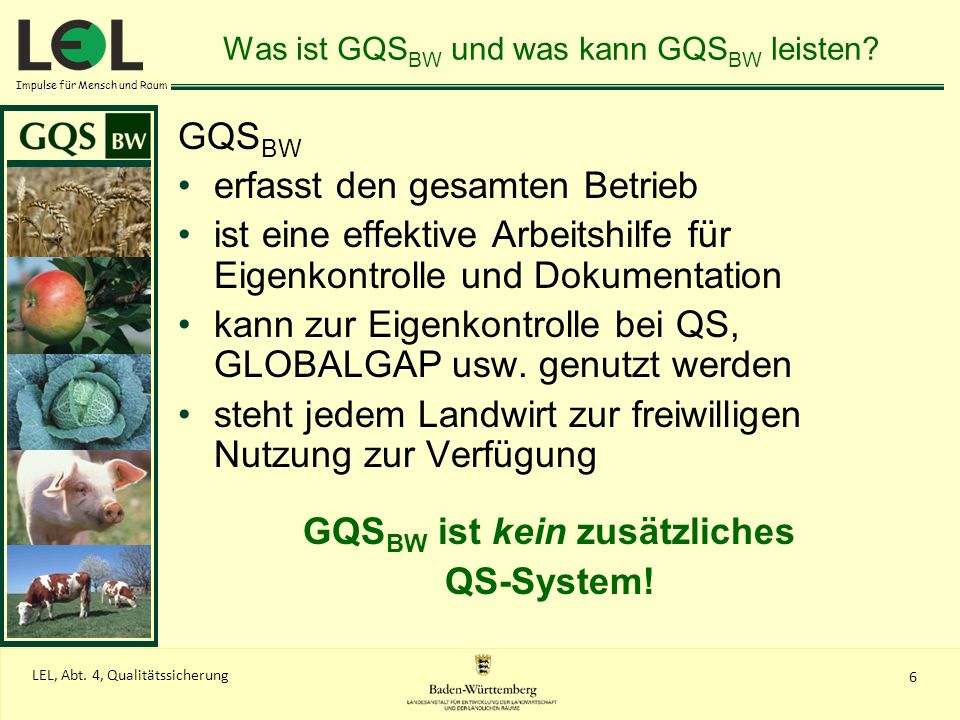 Was ist GQSBW und was kann GQSBW leisten