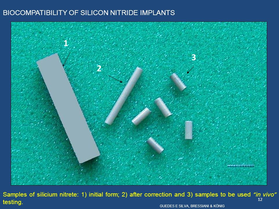 1 3 2 BIOCOMPATIBILITY OF SILICON NITRIDE IMPLANTS