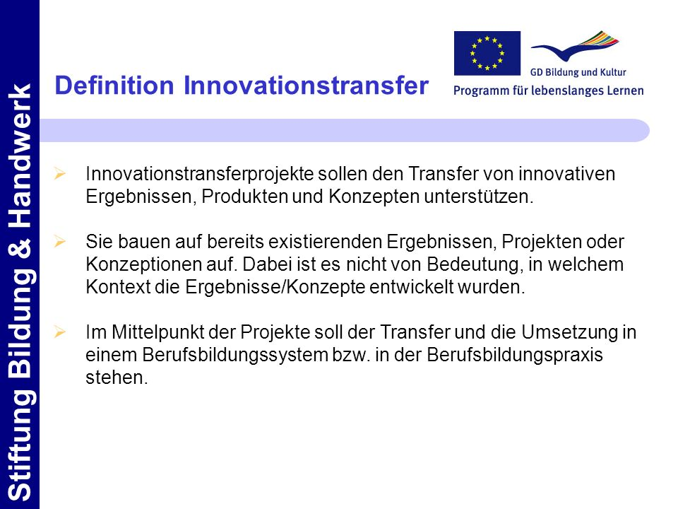 Definition Innovationstransfer