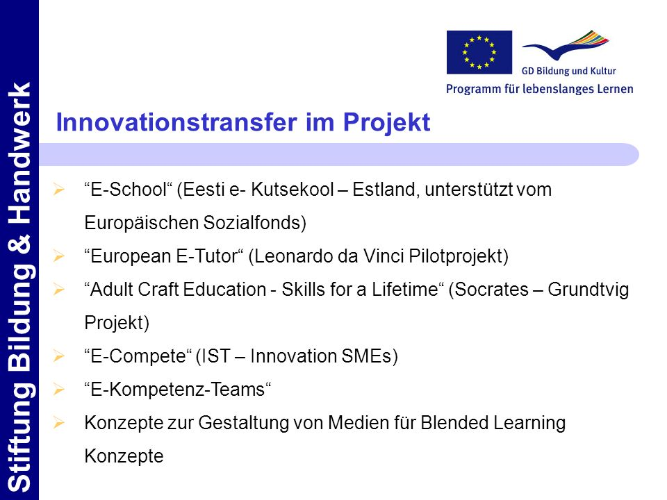 Innovationstransfer im Projekt
