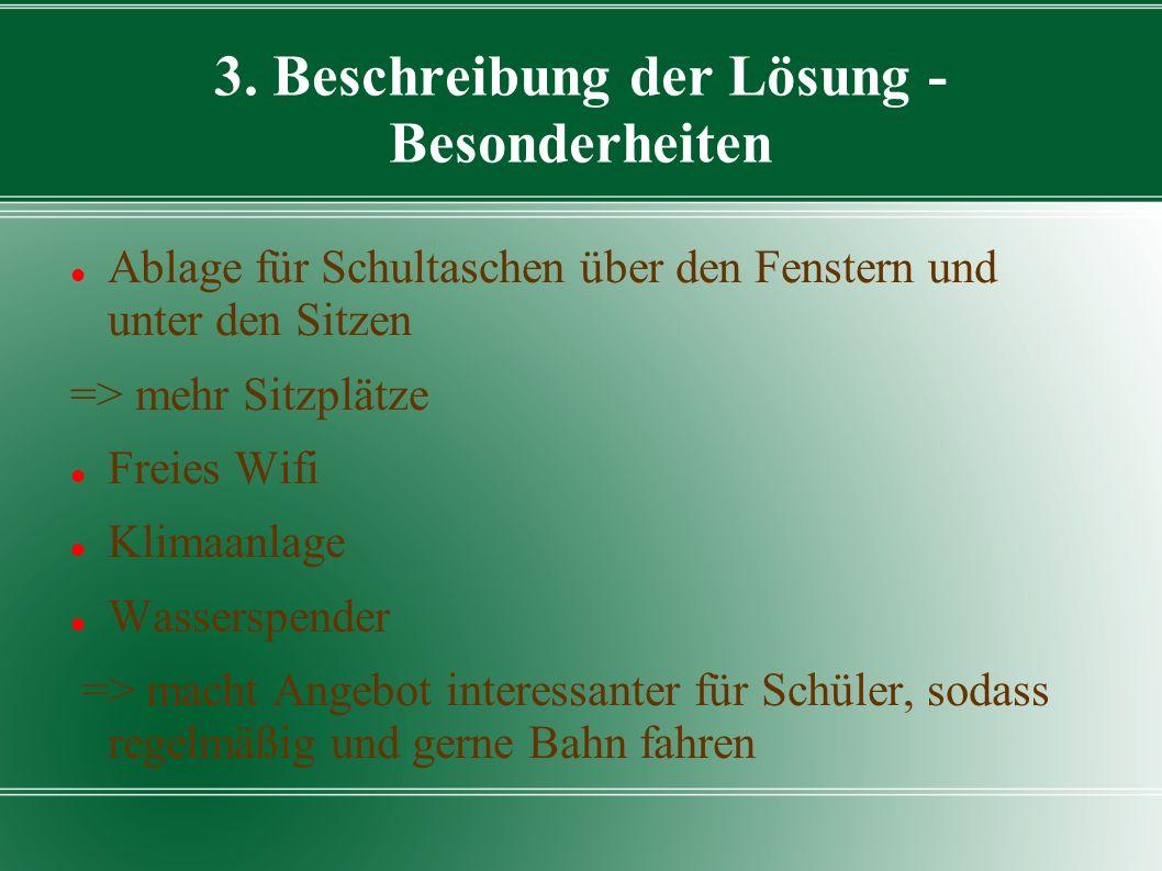 3. Beschreibung der Lösung - Besonderheiten